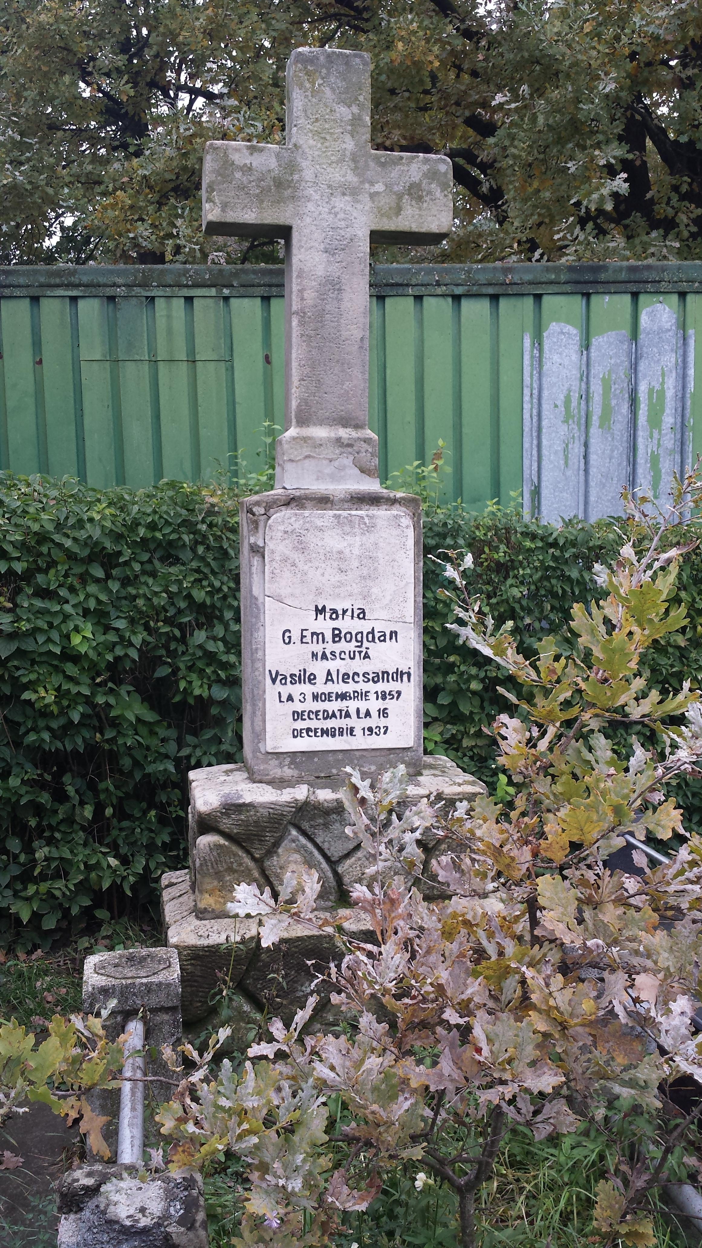 Crucea fiicei lui Vasile Alecsandri