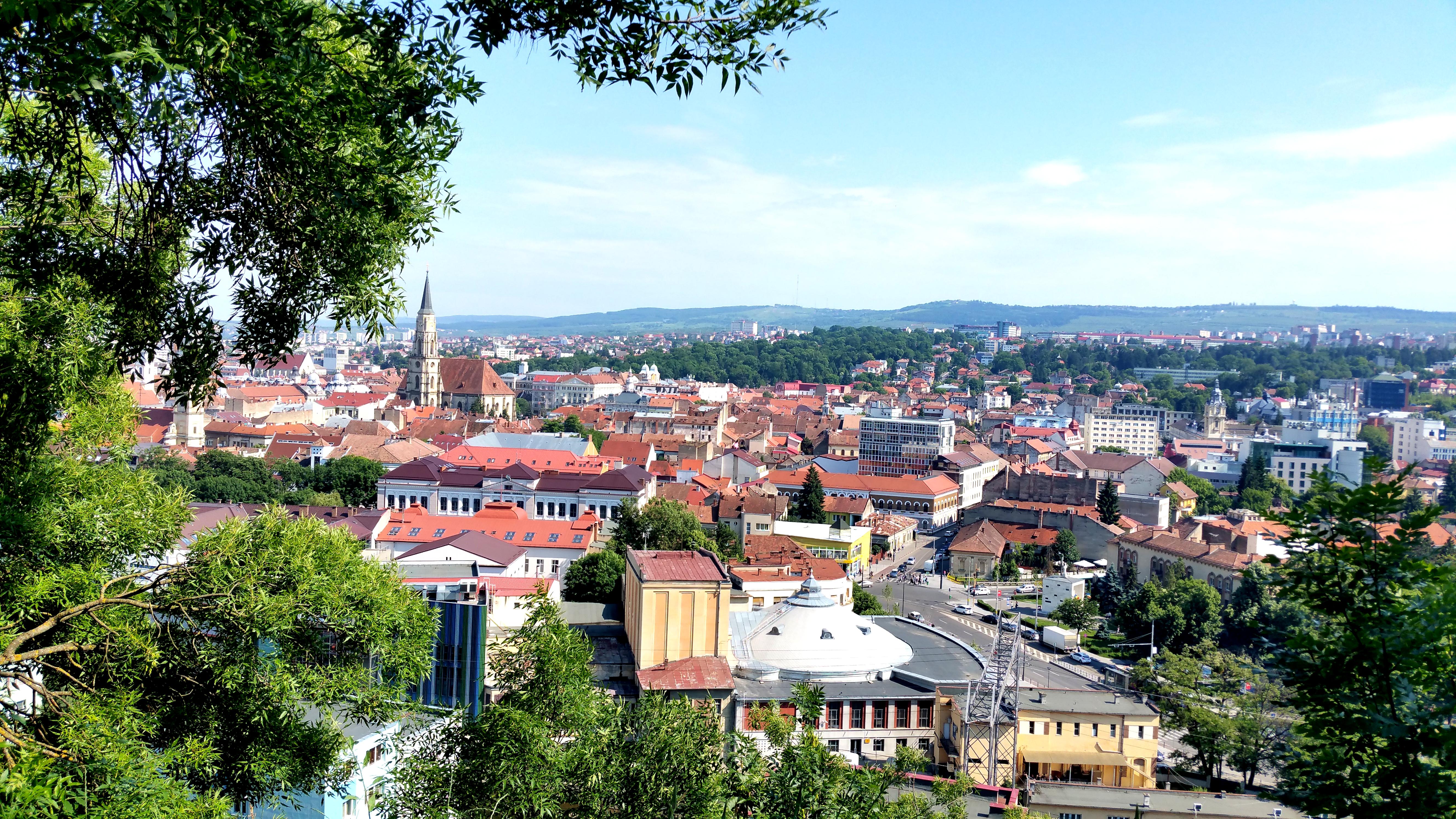 Panorama oraşului văzută de pe Cetăţuia