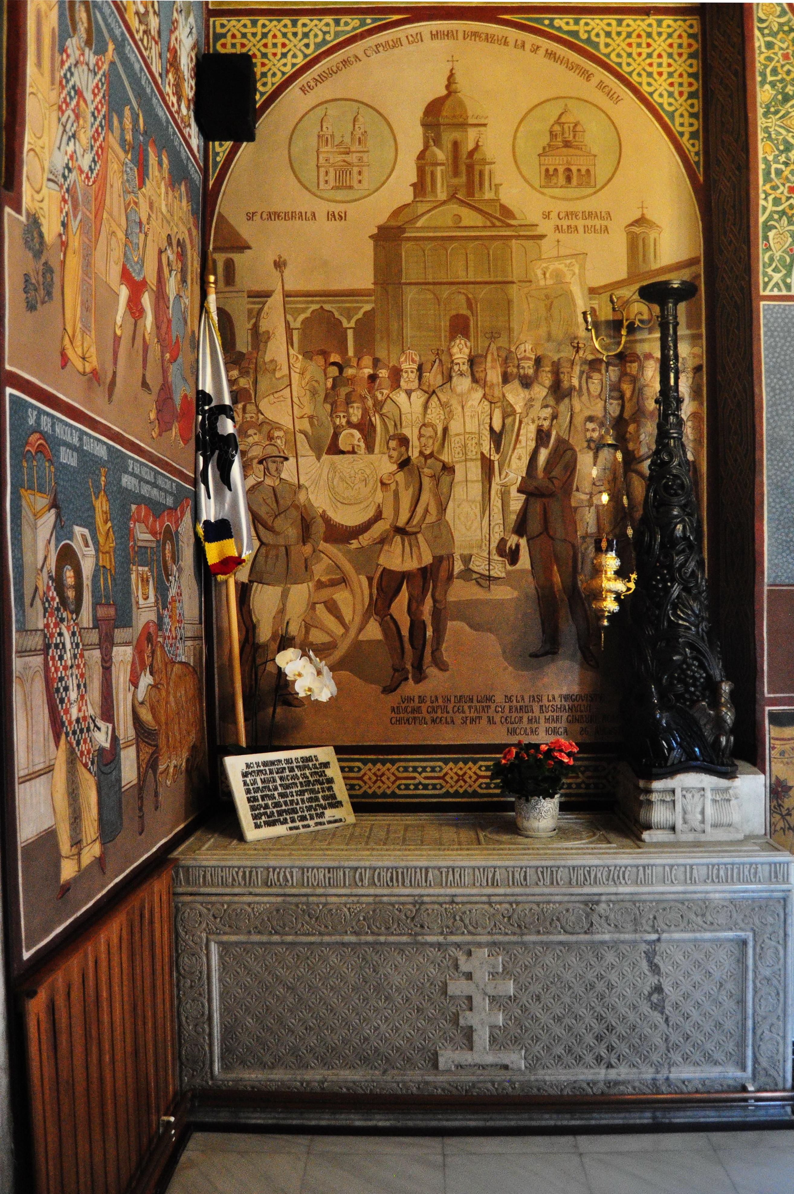 Racla cu rămăşiţele lui Mihai Viteazul. Mânăstirea Dealu