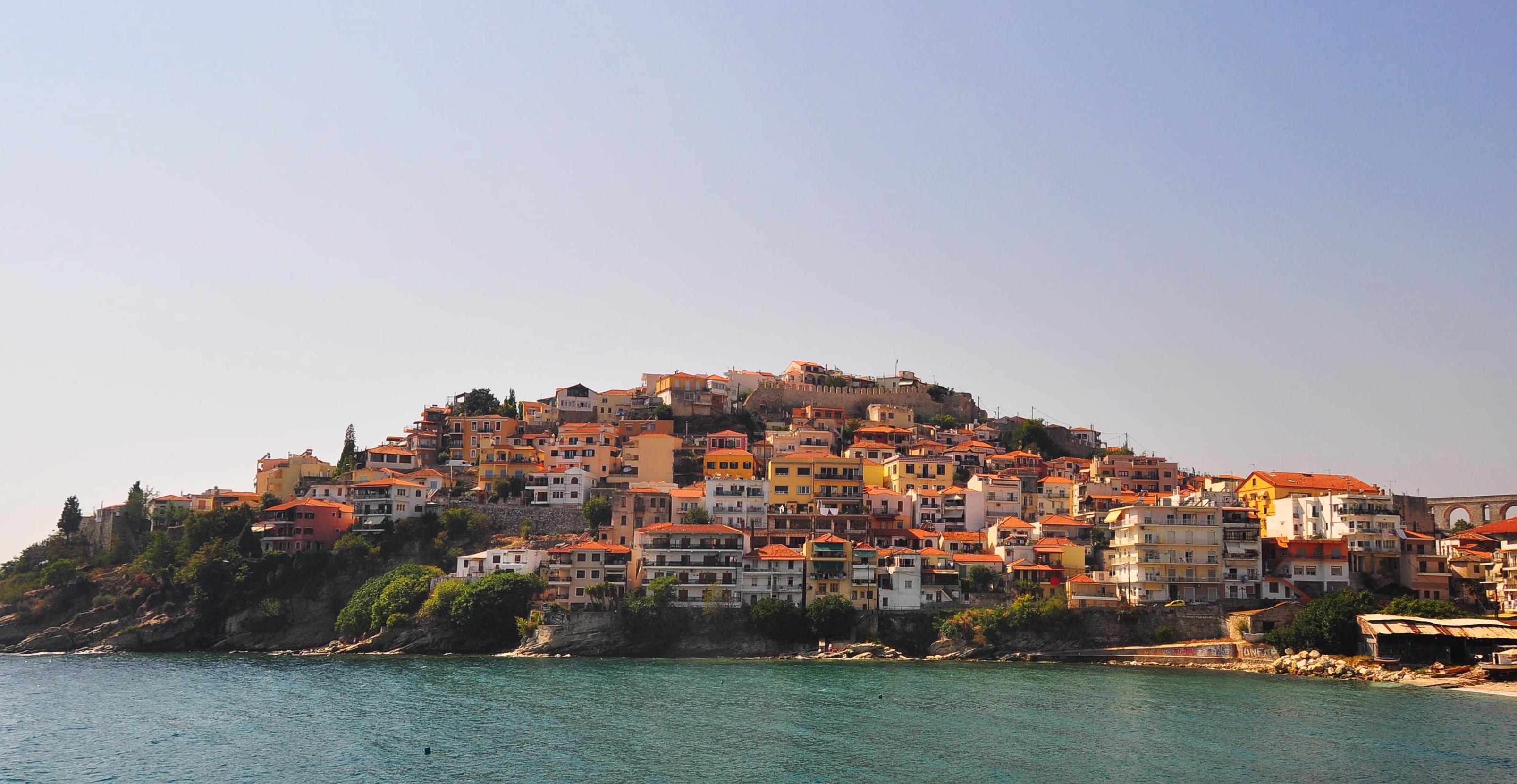 Întrarea în oraşul Kavala, venind dinspre Xanthi