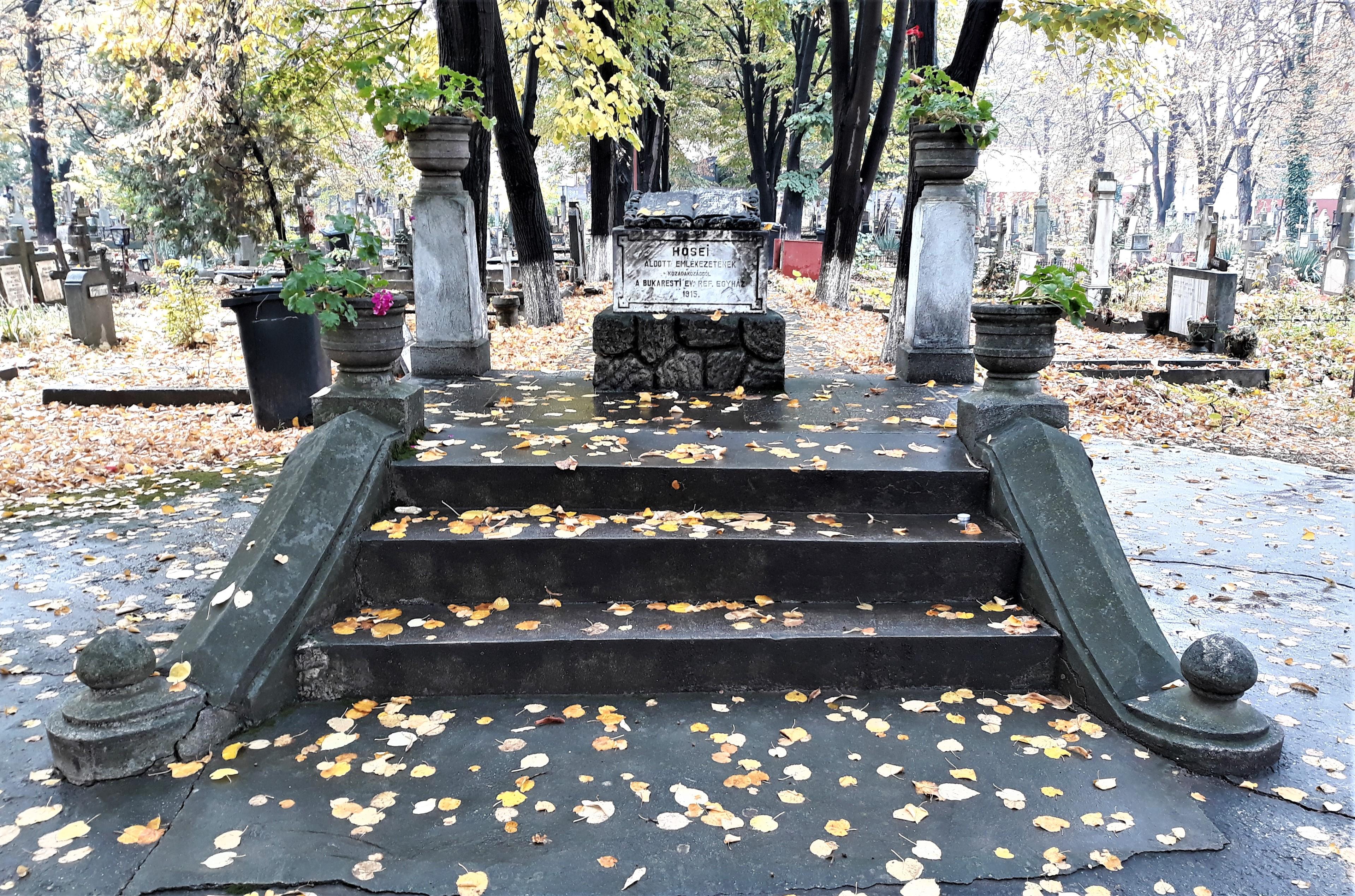 Monumentul victimelor din Primul Război Mondial. Cimitirul Calvin.