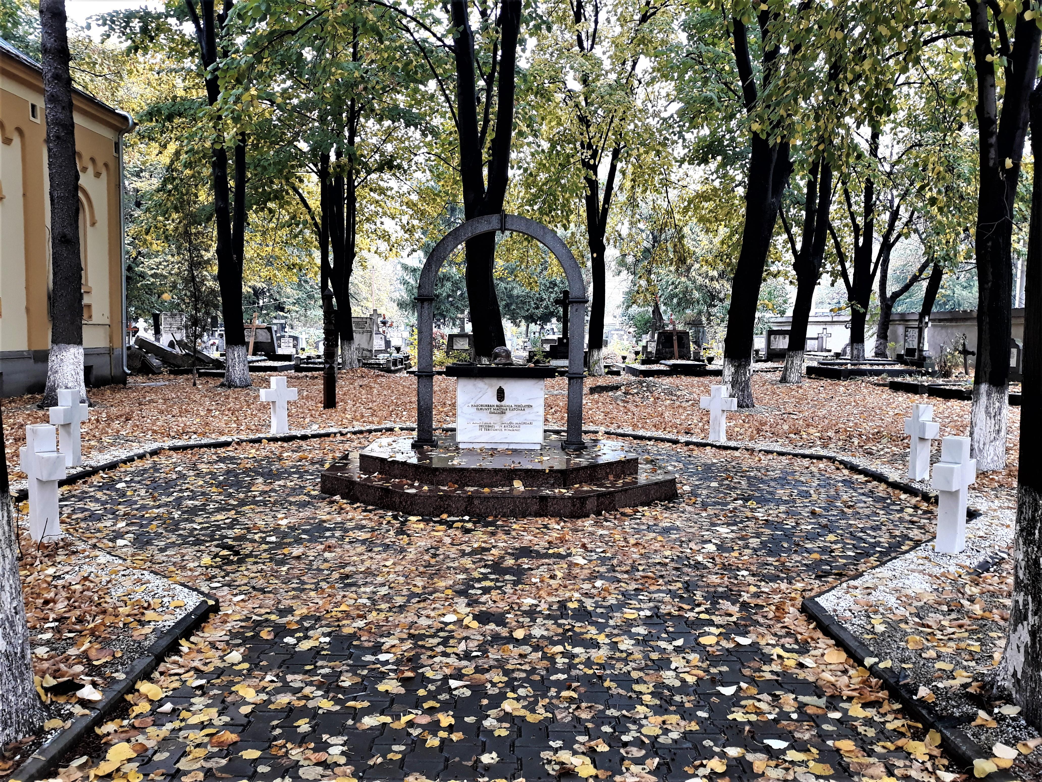 Monumentul Soldaților Maghiari căzuți în timpul celor două Războaie Mondiale pe teritoriul României. Cimitirul Calvin