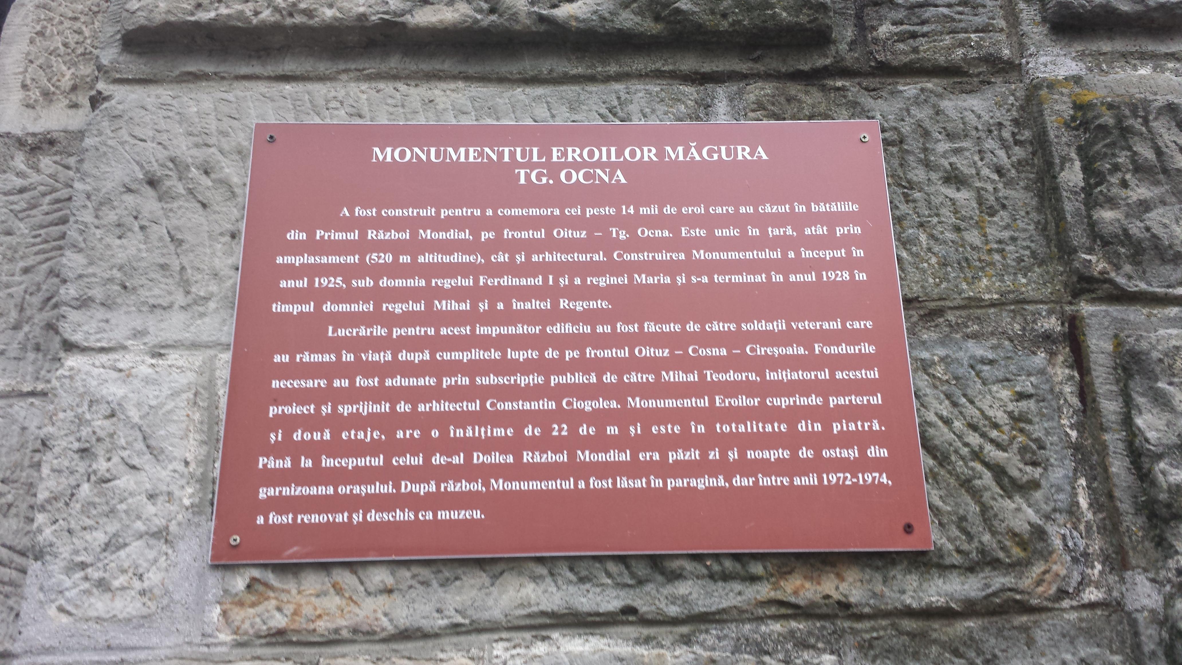 Monumentul Eroilor de pe Muntele Măgura. Bacău.