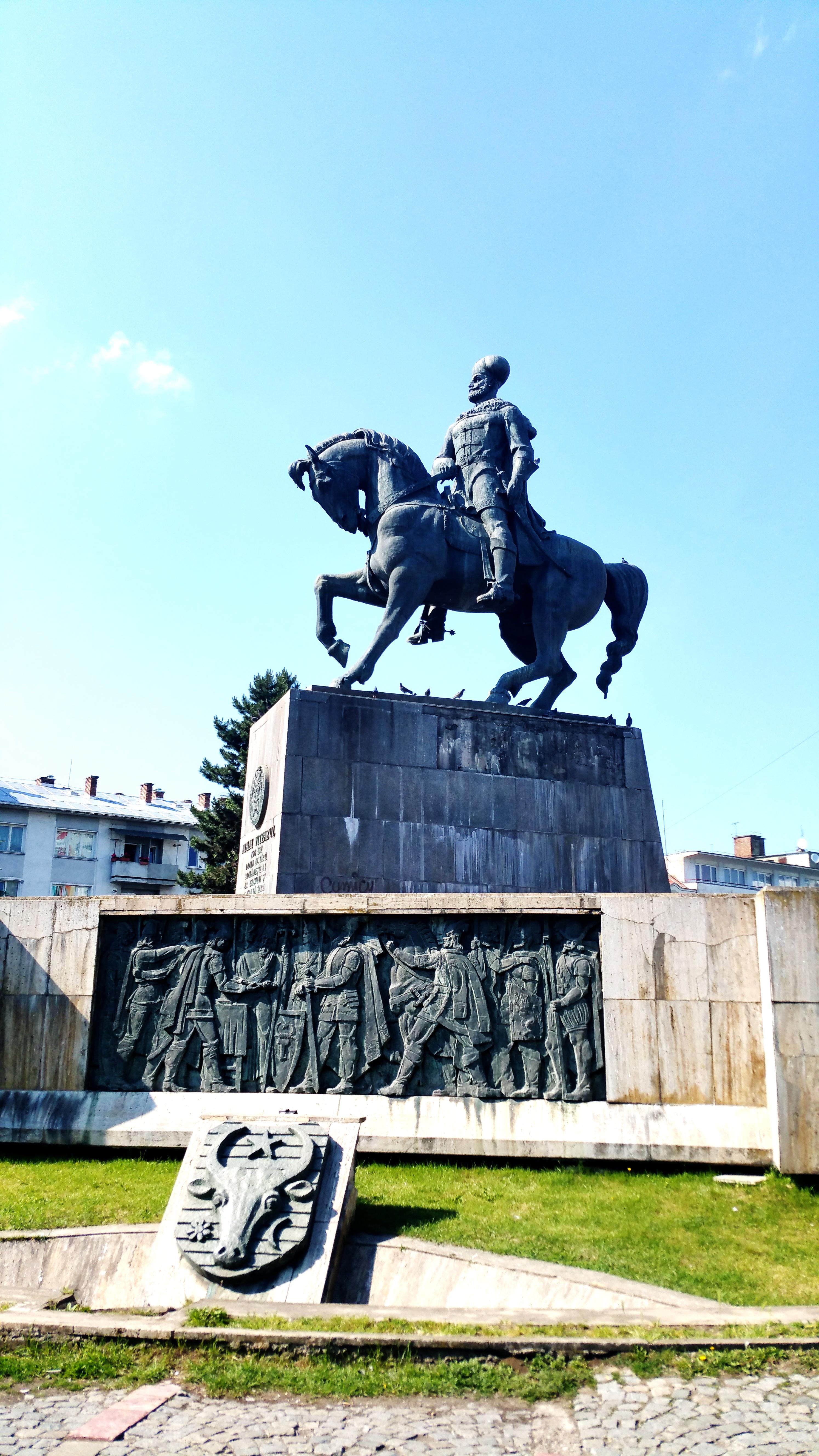 Statuia lui Mihai Vitezul. Cluj.