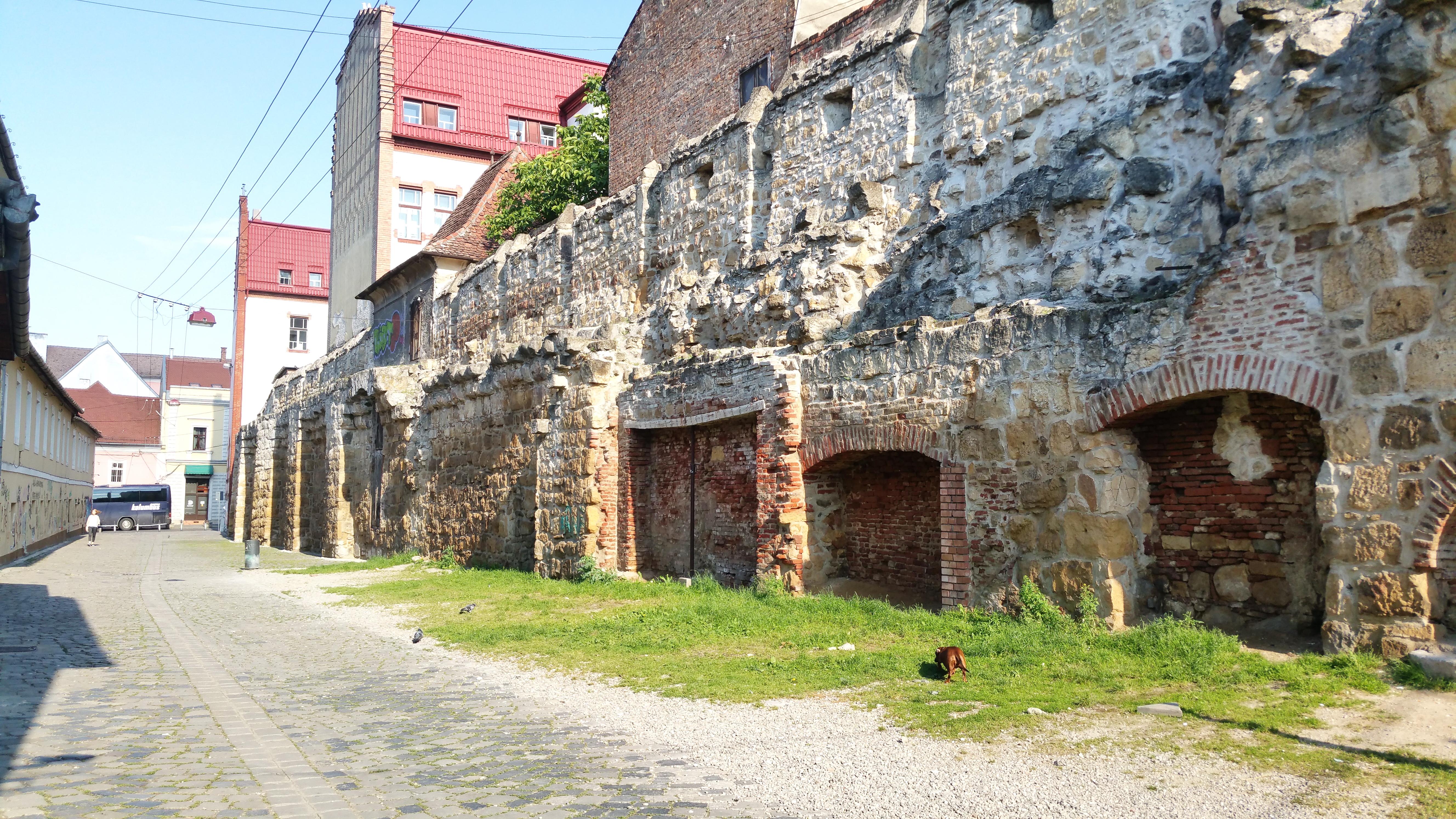 Zidurile vechii cetăţi medievale