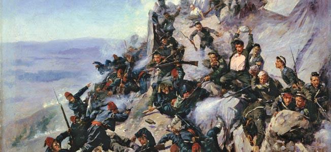 Ilustraţie a bătăliei de la Shikpa. Sursa: wikipedia