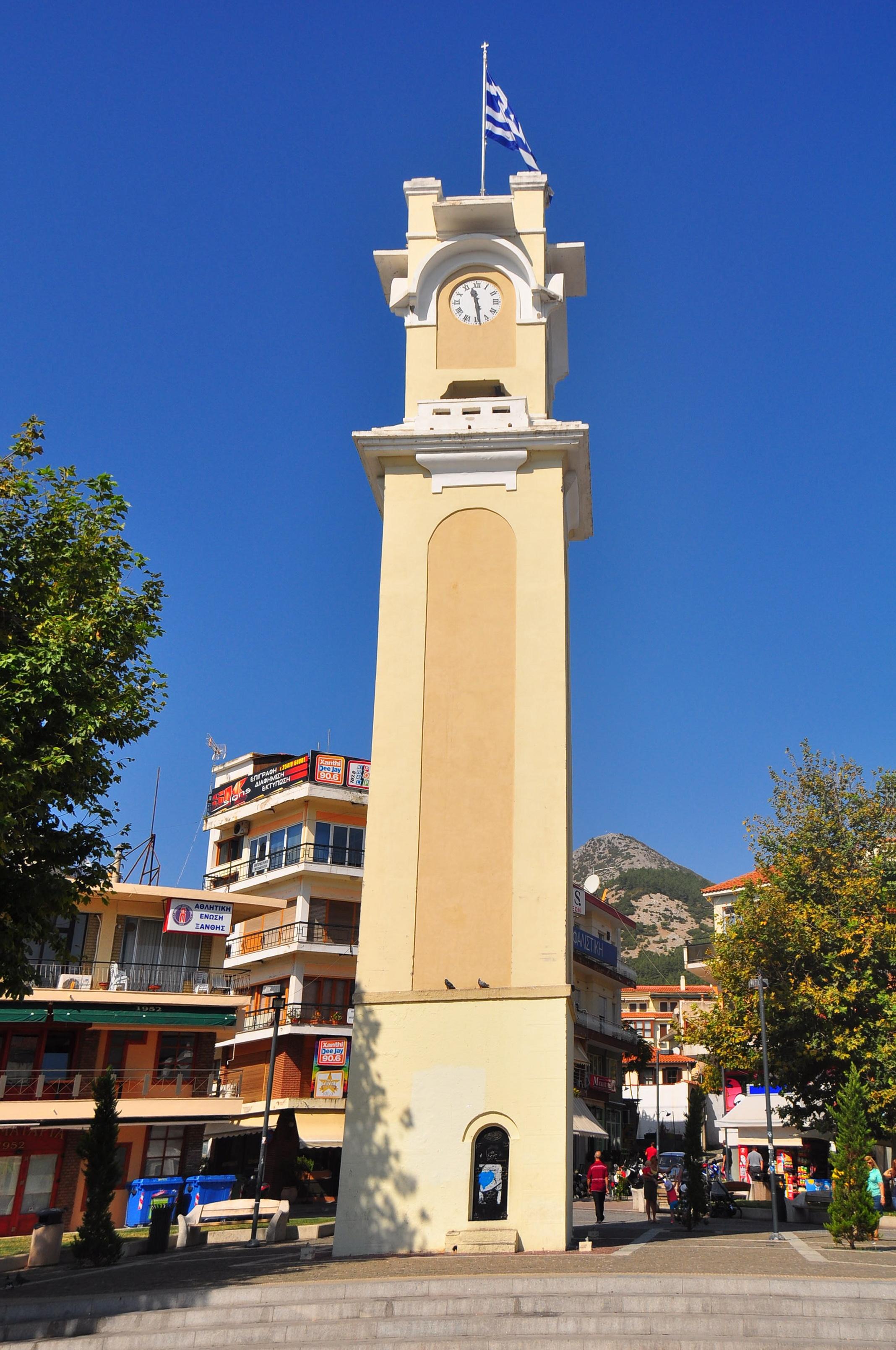 Turnul cu ceas din Xanthi, unul dintre simbolurile oraşului