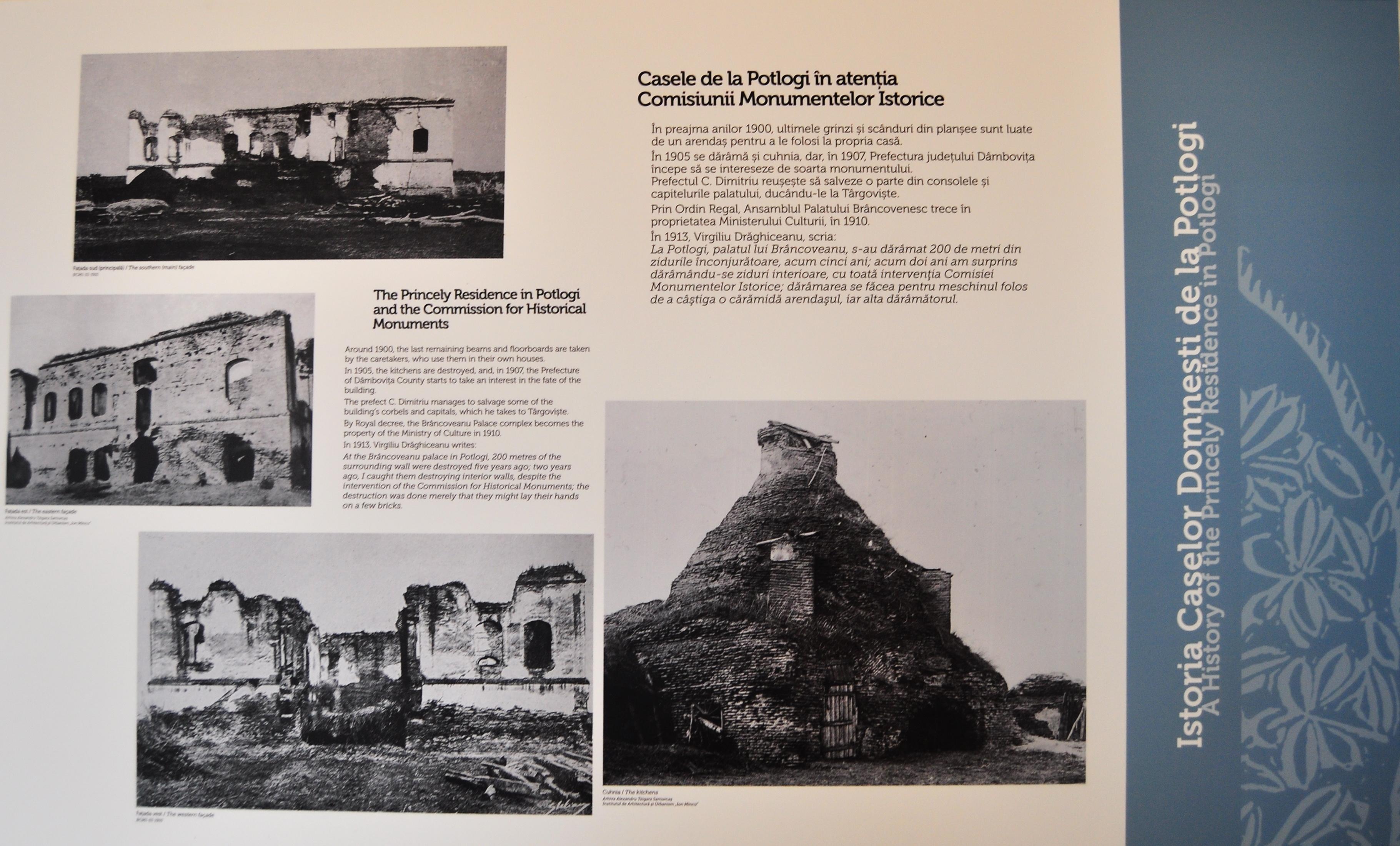 Imagini cu Ansamblul Arhitectural de la Potlogi înainte de restaurare