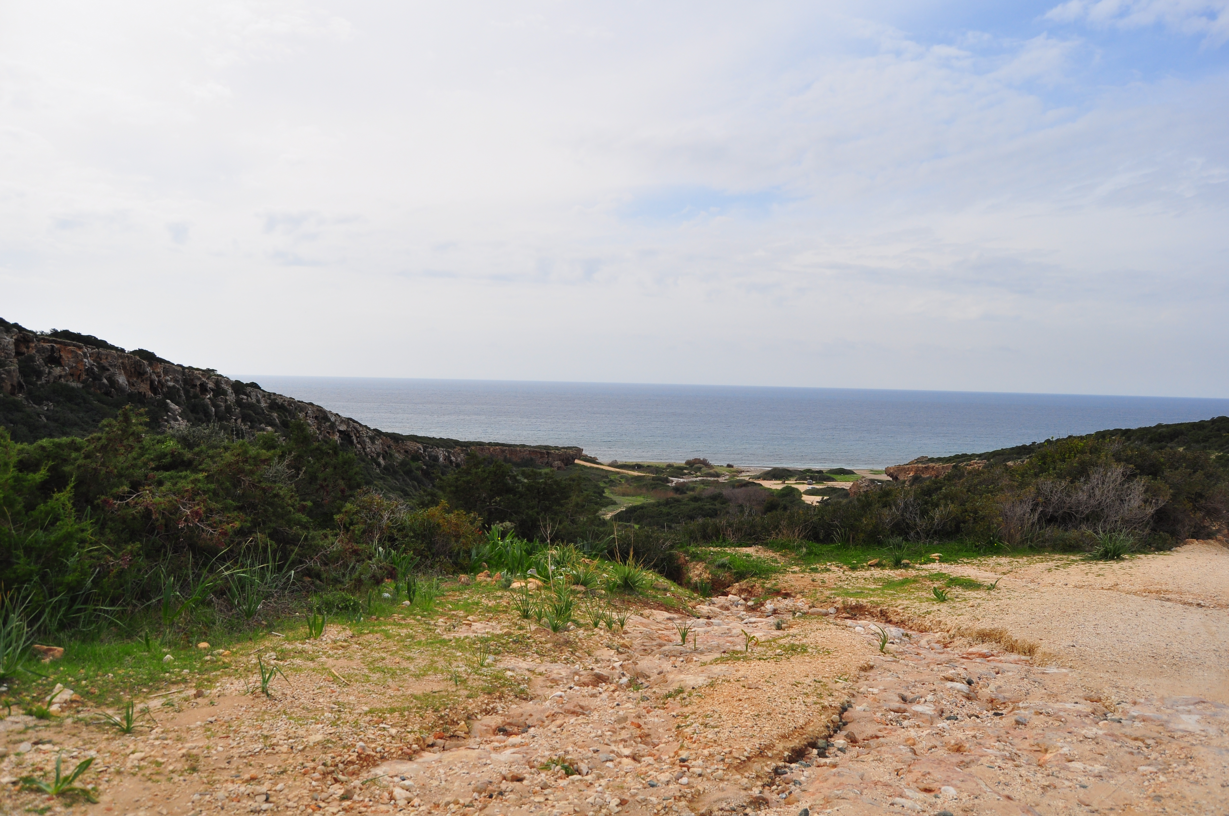 Drumul de întoarcere de la Canion spre Paphos