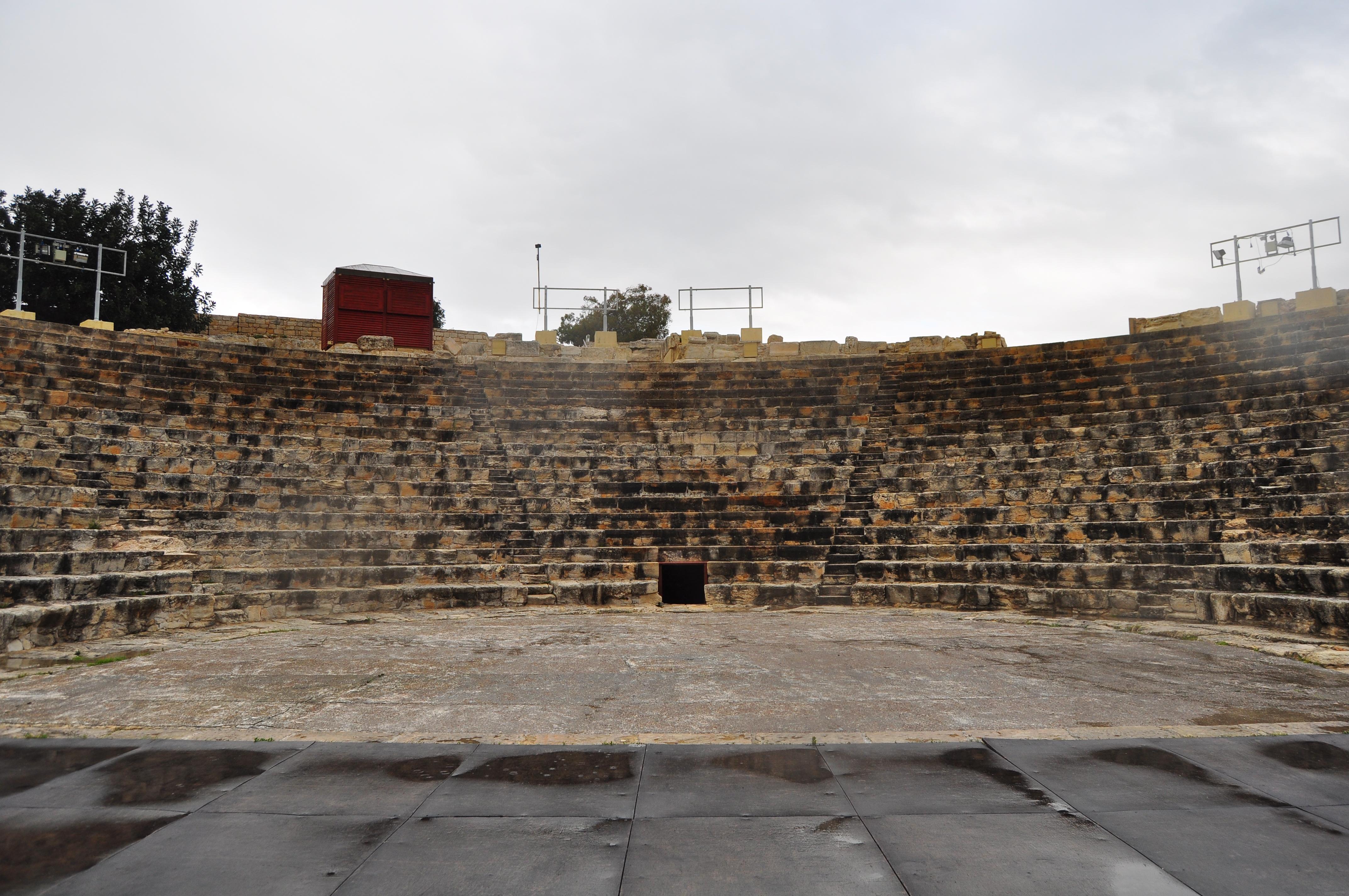 Teatrul greco-roman. Situl arheologic Kourion. Cipru