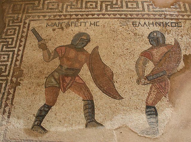 Mozaic din Casa Gladiatorilor. Kourion. via www.pinterest.com