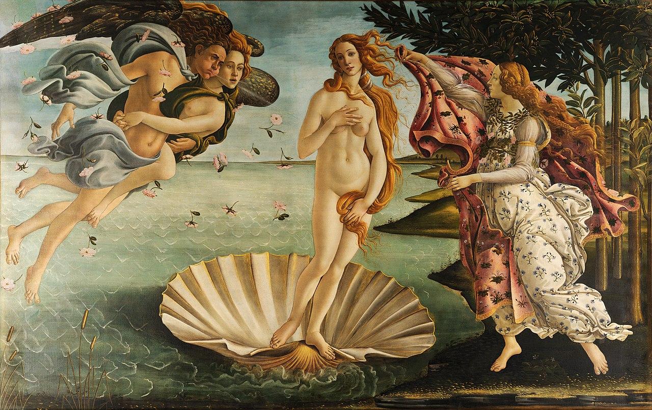 Afrodita. Sandro Botticelli. via www.wikipedia.com